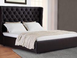 Ruda, klasikinė, dvigulė lova Karmen