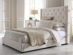 Balta, klasikinė, dvigulė lova Luna