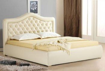 Balta dvigulė miegamojo lovo Hemera