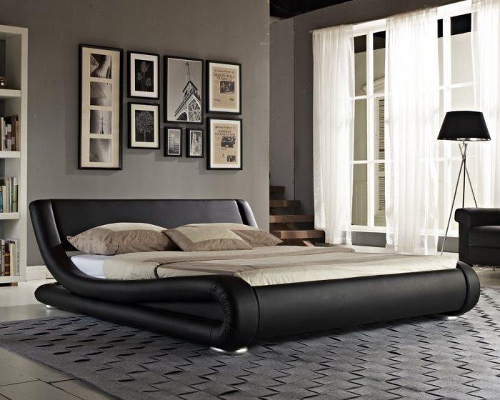 Juoda, moderni dvigule lova Nica