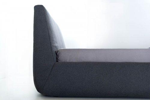 Pilka, moderni, dvigulė lova Hera