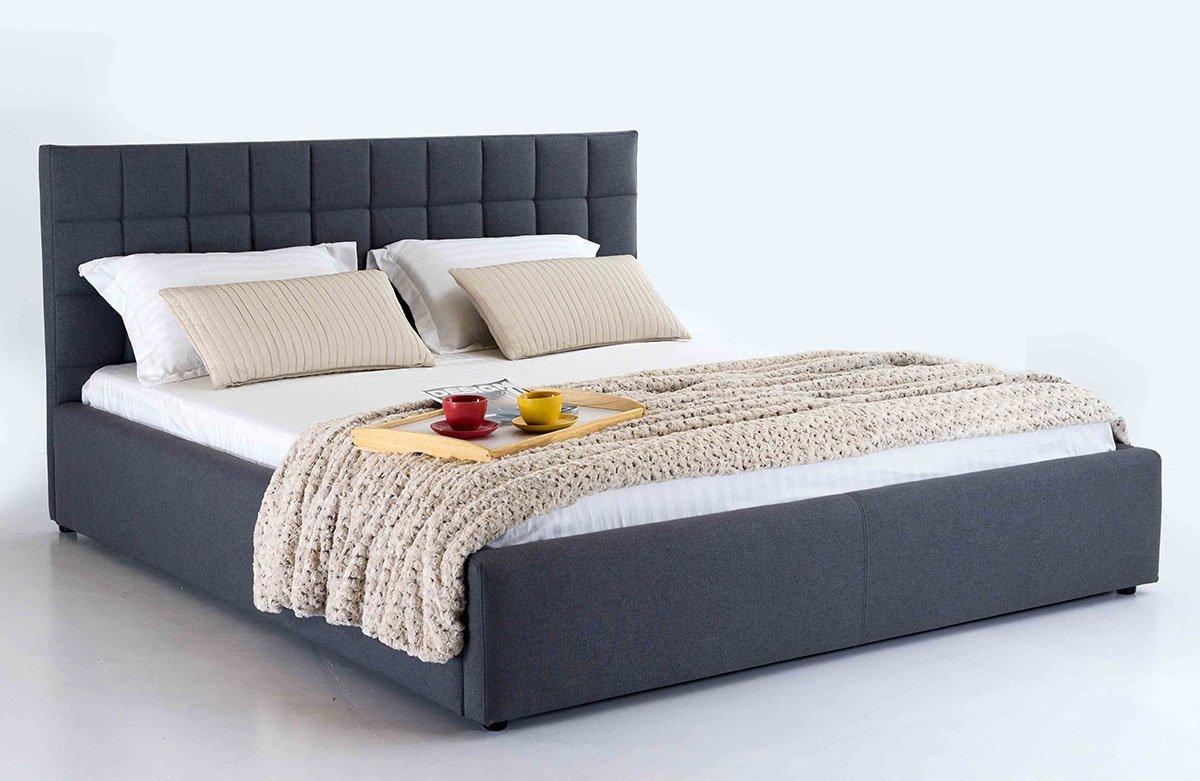 Moderni dvigule lova bangkok pilkos spalvos