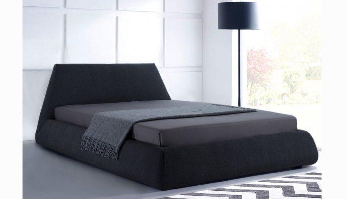 Modernaus dizaino dvigule lova Hera juodos spalvos