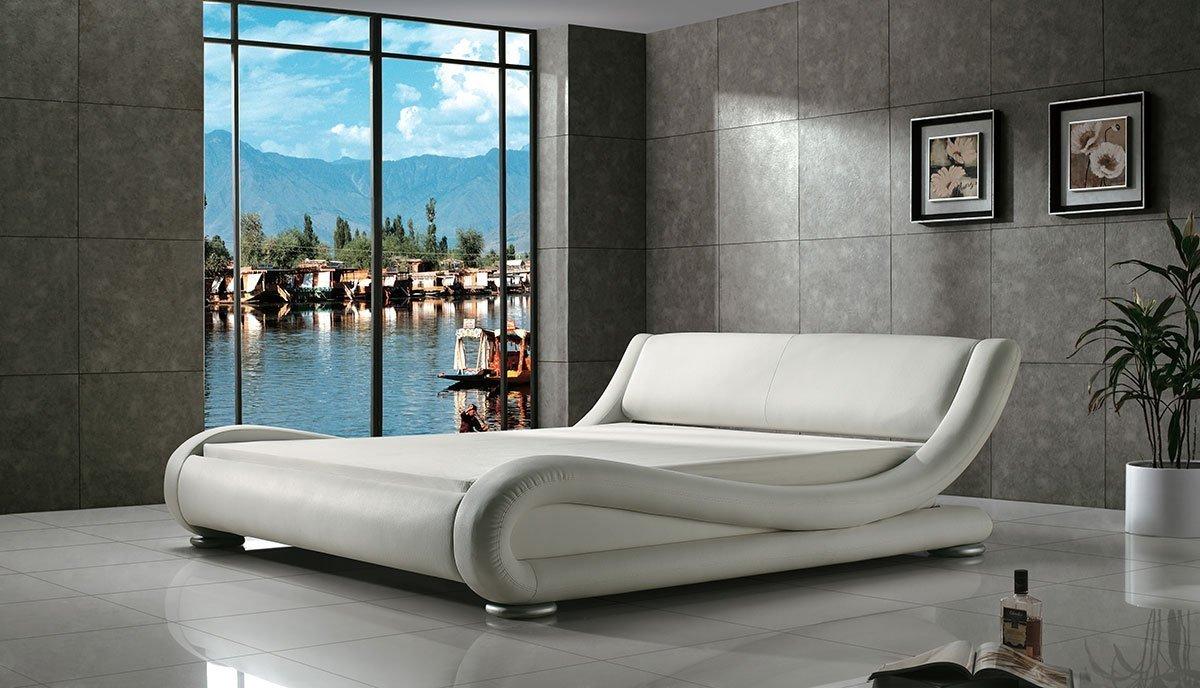 Dvigulė lova Nica balta