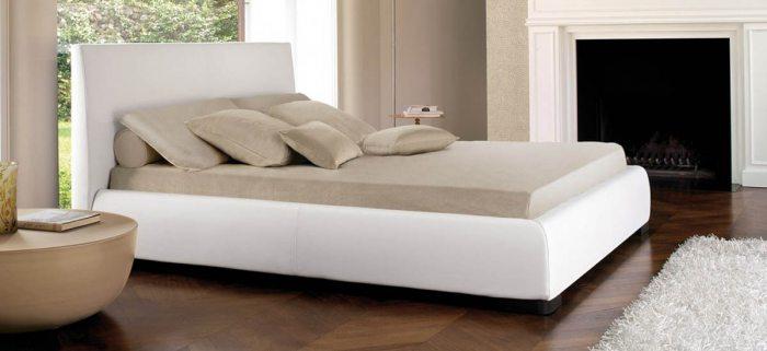Dvigulė lova Bona, baltos spalvos