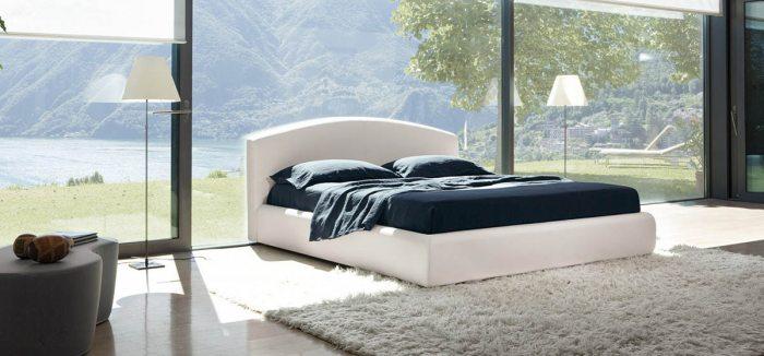 Dvigulė lova Flora, baltos spalvos
