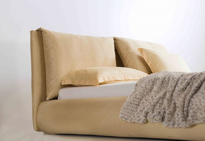 Kremine, moderni, dvigule miegamojo lova Heaven