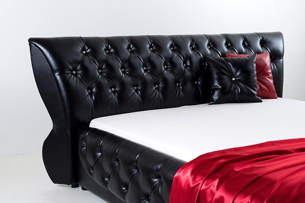 Juodos, modernios dvigules lovos Roma galvugalis
