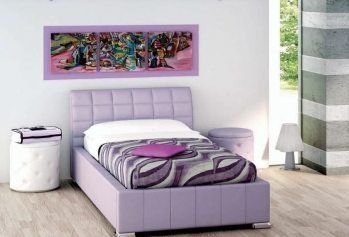 Purpurine moderni viengule lova Tito