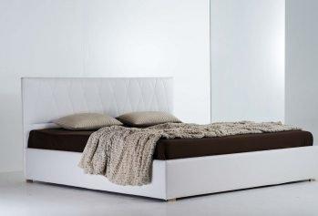 Balta, klasikine dvigule lova Plaza