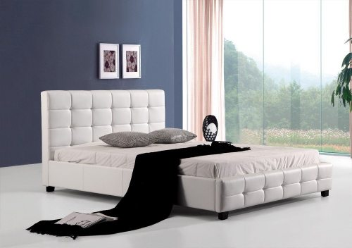 Balta dvigulė lova Vera