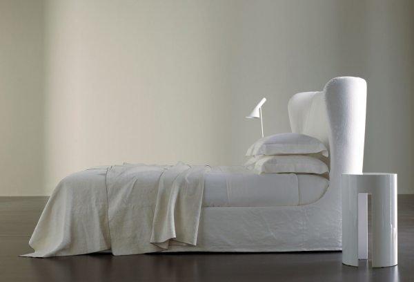 Balta dvigulė lova Eva