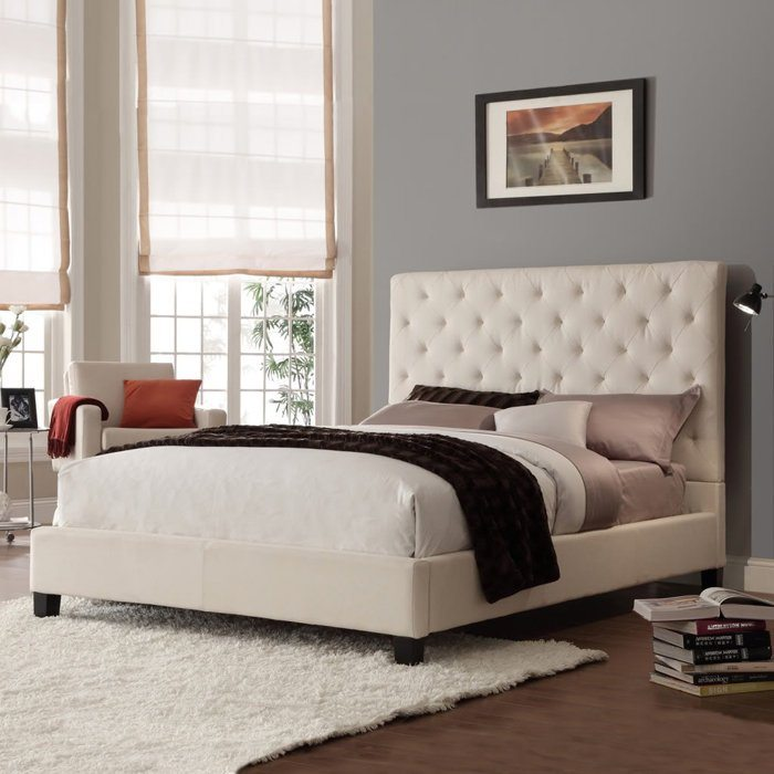 Kremine, klasikine dvigule lova Domino