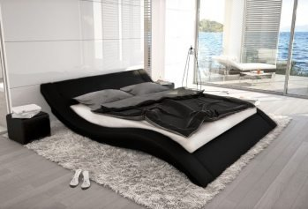 Juoda dvigulė lova Luiza