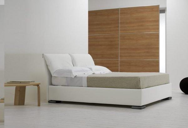 Balta dvigulė lova Nevera