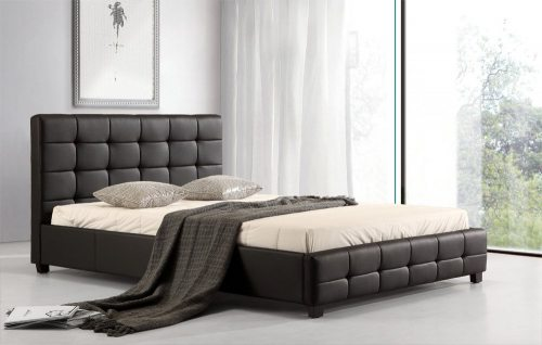 Ruda dvigulė lova Vera