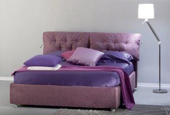 Violetinė dvigulė miegamojo lova Candy