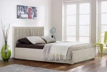 Balta dvigulė miegamojo lova Veneta