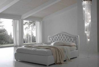 Balta, klasikine dvigule lova Hemera