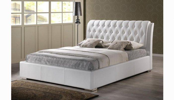 Dvigule lova Boston baltos spalvos, galvugalis su itraukimais