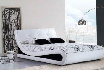 Dvigulė balta lova Nica Mini