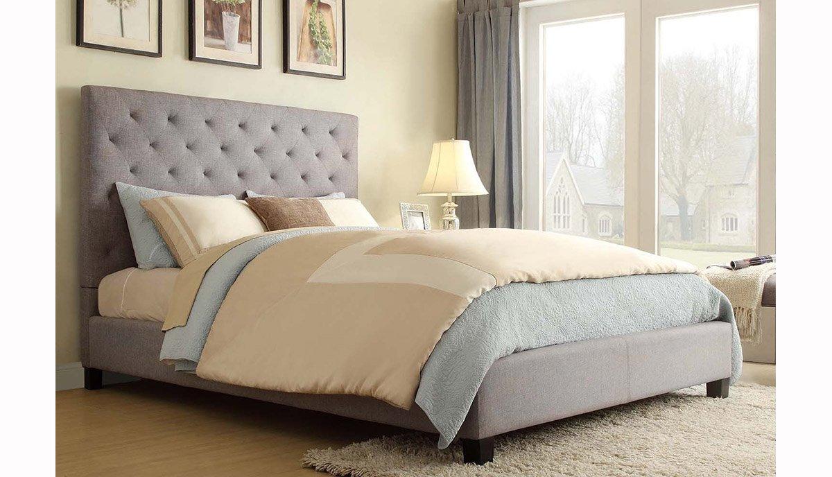 Dvigule lova Domino pilkos spalvos su aukstu galvugaliu