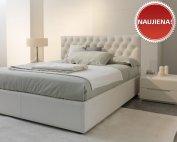 Balta, klasikinė, dvigulė lova Harmony, naujiena