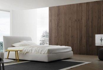 Balta dvigulė lova Perla