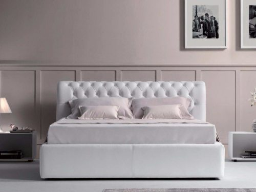 Balta dvigulė lova Torino