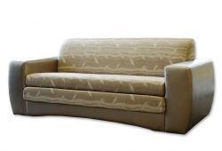 Kreminė, klasikinė, trivietė sofa-lova Hugo