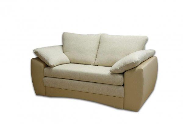 Kreminė, moderni, dvivietė sofa-lova Hugo 6