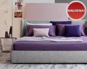 Pilka, moderni, dvigulė lova Melody, naujiena