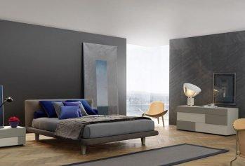 Pilka dvigulė lova Panama