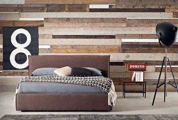 Ruda dvigulė lova Morgan