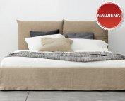 Rusva, moderni, dvigulė lova Amber, naujiena