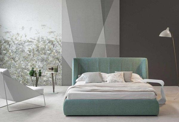 Žalsva miegamojo dvigulė lova Melody
