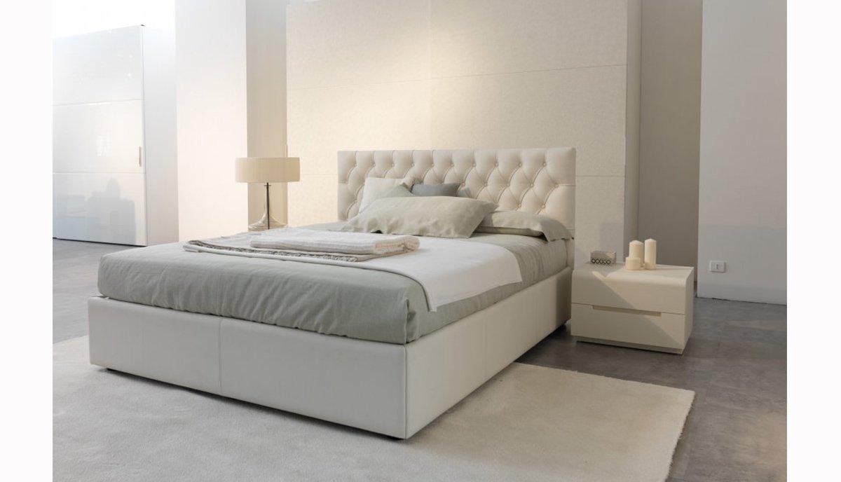 Dvigule lova Harmony baltos spalvos, galvugalis su itraukimais