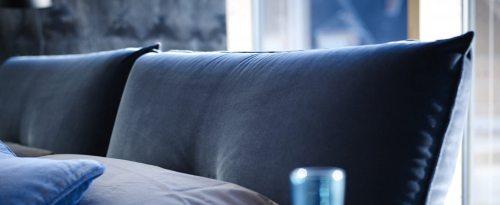 Moderni dvigule lova Fabio su pagalvemis
