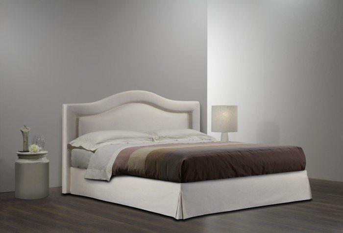 Balta, moderni, dvigulė lova Indigo