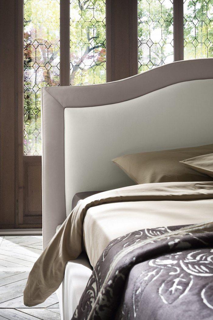 Kremine, klasikine, dvigulė lova Indigo
