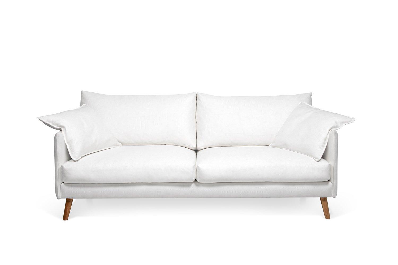 Balta, moderni sofa Cumulus su porankiais
