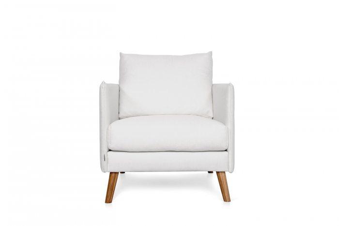 Baltas, modernus fotelis Cumulus