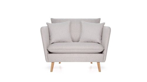 Pilkas, modernus, fotelis Smogen