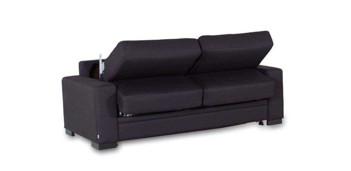 Pilka, moderni islankstoma sofa Preston