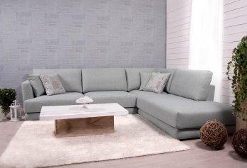 Pilka, moderni kampine sofa Andango