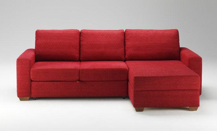Raudonas, klasikinis minkstas kampas Roma