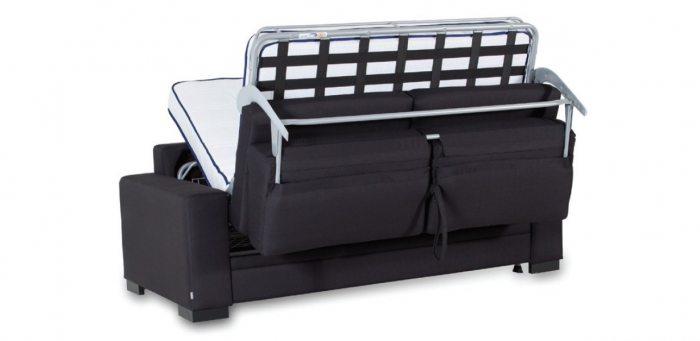 Pilka, moderni sofa Preston su islankstomu miegamu mechanizmu