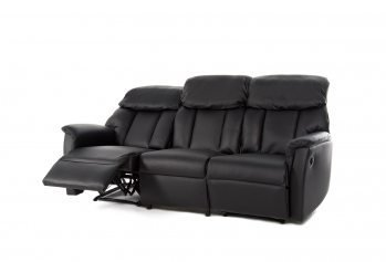 Juoda, moderni, sofa Estrada