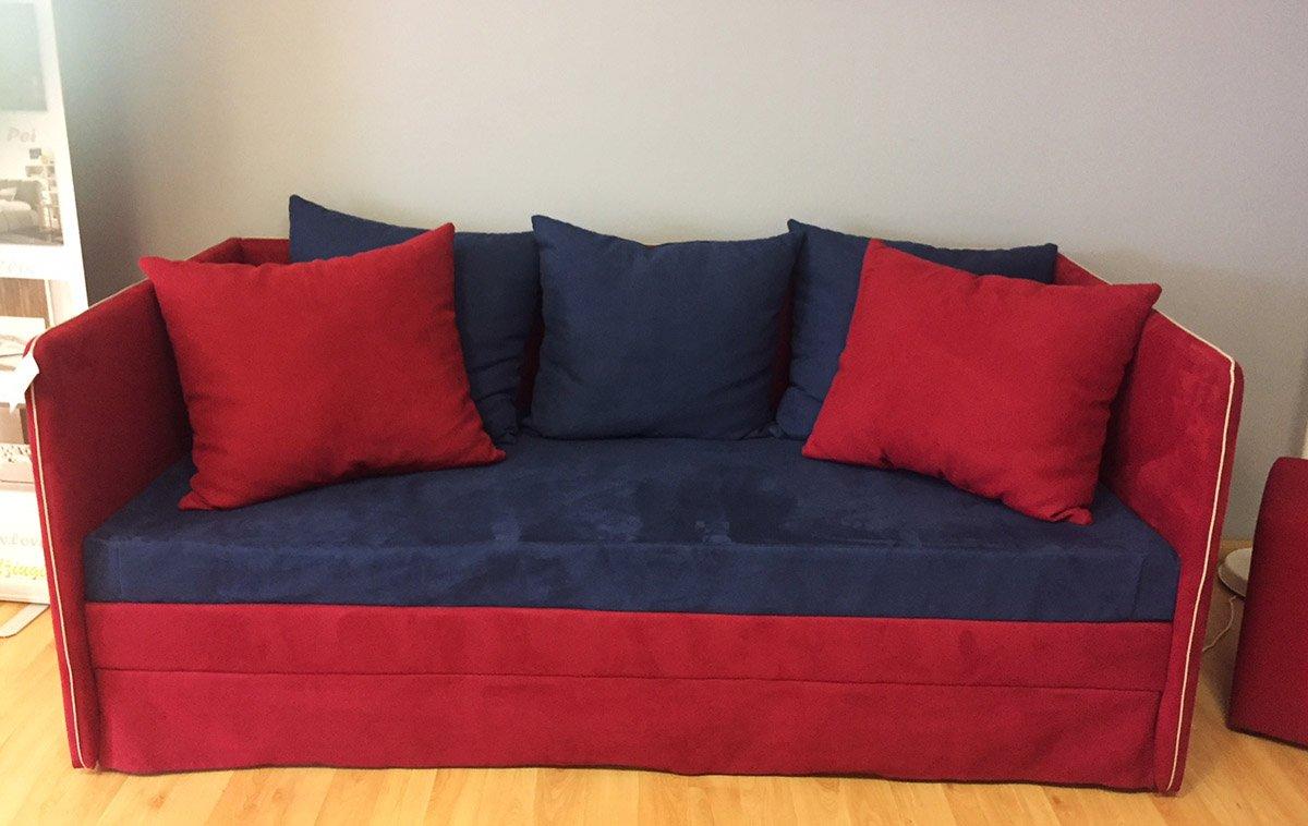 Raudona, moderni viengule lova Kaja