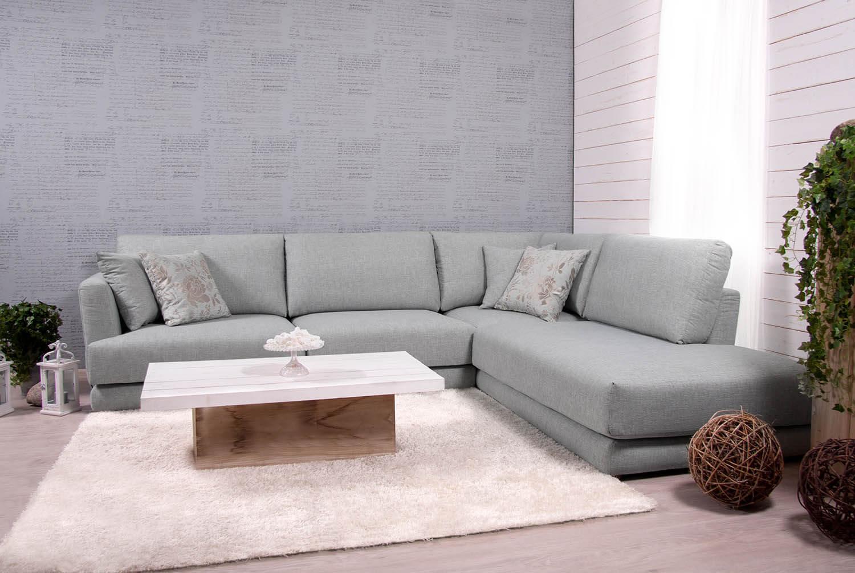 Pilka, moderni, kampine sofa Andango